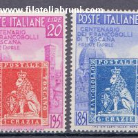 Toscana centenary of Tuscany's first stamps